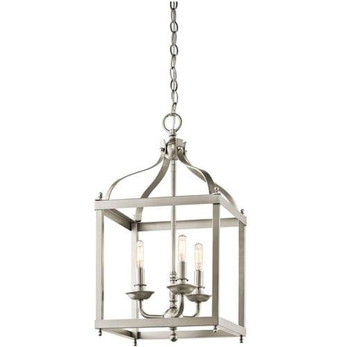 Larkin Medium Nickel Interior Lantern - Kichler Lighting
