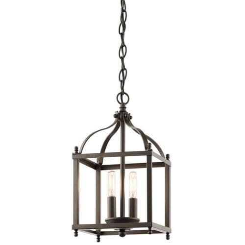 Larkin Small Bronze Interior Lantern - Kichler Lighting