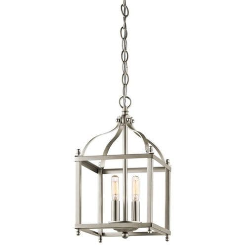 Larkin Small Nickel Interior Lantern - Kichler Lighting