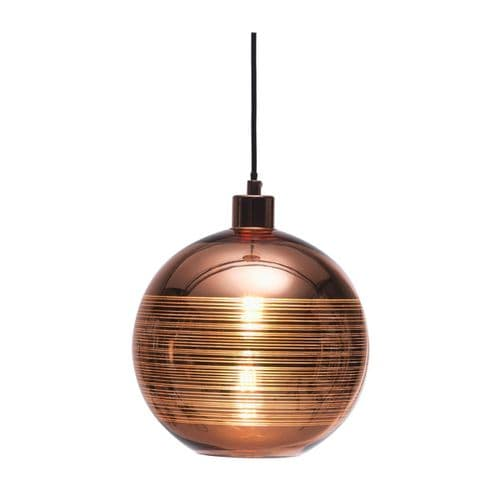Lia Copper Glass Single Light Pendant - Oaks Lighting