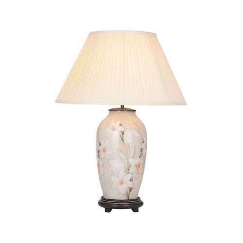 Lily Tall Urn Table Lamp with Shade - Jenny Worrall