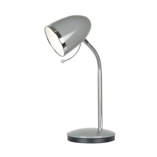 Madison Dark Grey Desk Lamp - Oaks Lighting