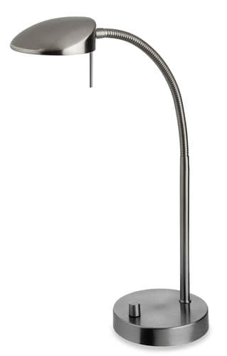 Milan Brushed Steel LED Desk Lamp - Firstlight Lighting