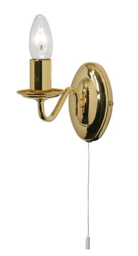 Nador Gold Switched Single Wall Light - Oaks Lighting