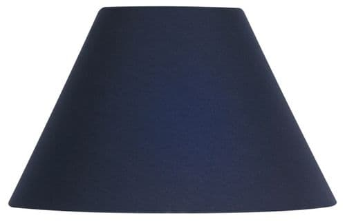 "Navy 20"" Cotton Coolie Lamp Shade - Oaks Lighting"