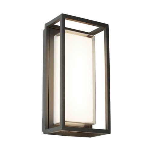 Ohio Rectangular Warm White LED Wall Light - Searchlight Lighting