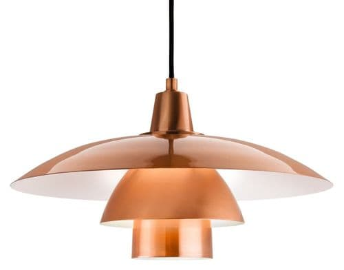 Olsen Brushed Copper Single Light Pendant - Firstlight Lighting