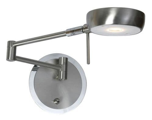 Orin Antique Chrome LED Switched Wall Light - Oaks Lighting