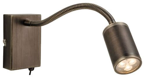 Orion Bronze LED Flexi Wall Light - Firstlight Lighting