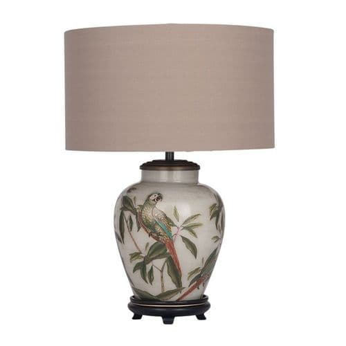 Parrot Small Urn Table Lamp with Shade - Jenny Worrall