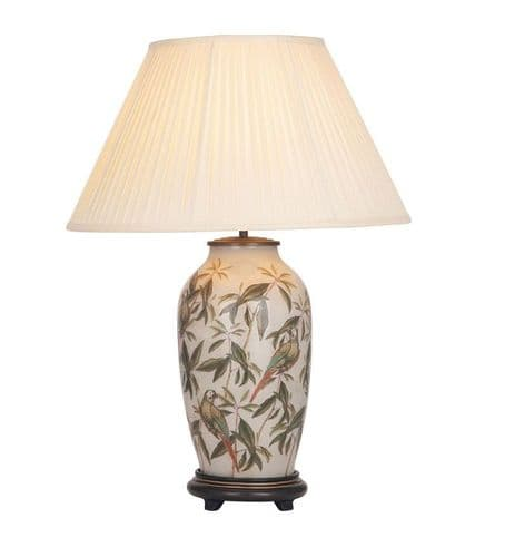 Parrot Tall Urn Table Lamp with Shade - Jenny Worrall