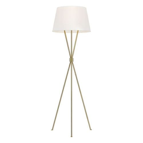 Penny Brass Floor Lamp - Feiss Lighting
