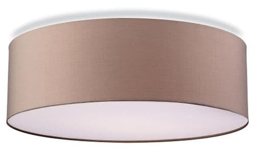 Phoenix Taupe Flush Ceiling Light - Firstlight Products - SALE - Was £58.32