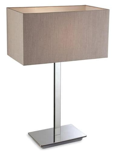 Prince Steel Table Lamp with Oyster Shade  - Firstlight Lighting