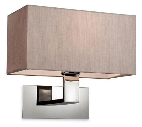 Prince Steel Wall Light with Oyster Shade - Firstlight Lighting