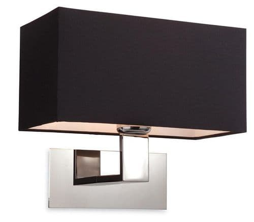 Prince Wall Light with Black Shade - Firstlight Lighting