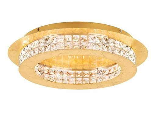 Principe Gold Small Flush Crystal Ceiling Light - Luxury Lighting