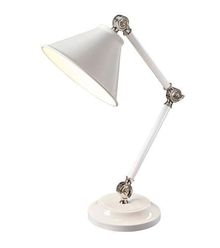 Provence Element White Desk Lamp - Elstead Lighting