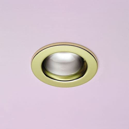 R63 Mains Voltage Fixed Downlight Brass