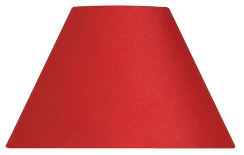 """Red 14"""" Cotton Coolie Lamp Shade - Oaks Lighting"""