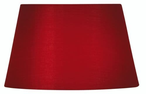 "Red 20"" Cotton Drum Lamp Shade - Oaks Lighting"