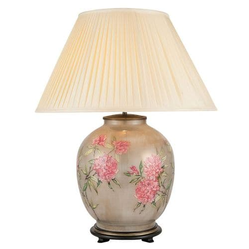 Rhododendron Large Round Table Lamp with Shade - Jenny Worrall