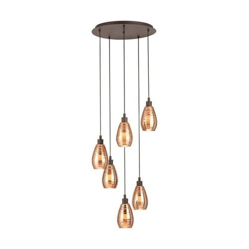 Siracusa 6 Light Cluster Ceiling Light Pendant - Eglo Lighting