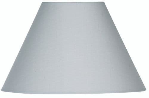 "Soft Grey 20"" Cotton Coolie Lamp Shade - Oaks Lighting"