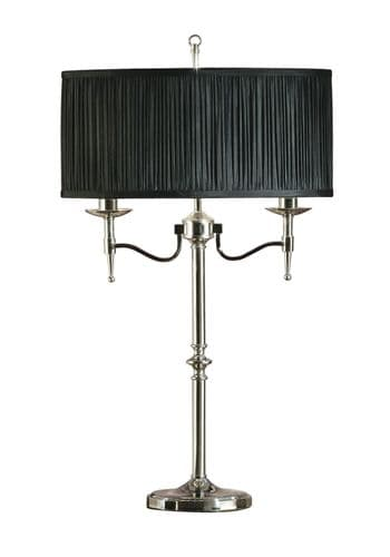 Stanford Nickel Table Lamp with Black Shade - Interiors 1900