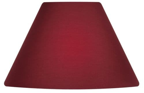 "Wine 20"" Cotton Coolie Lamp Shade - Oaks Lighting"