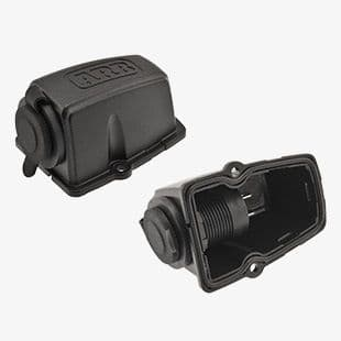 12/24V DC Threaded Socket and Surface Mount Housing