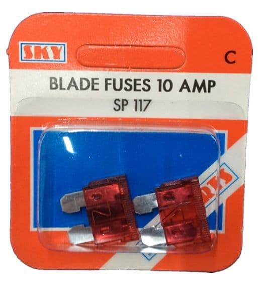 Blade Fuse - 10 Amp - Pack of 2