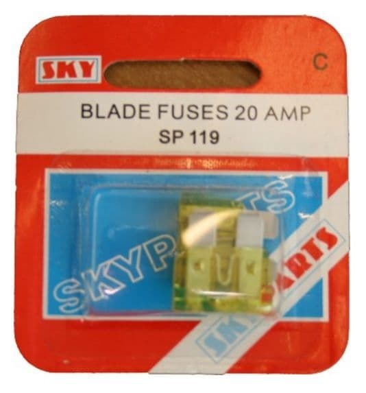 Blade Fuse - 20 Amp - Pack of 2
