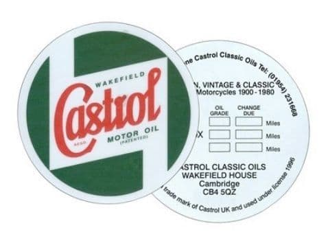 Castrol Window Service Sticker