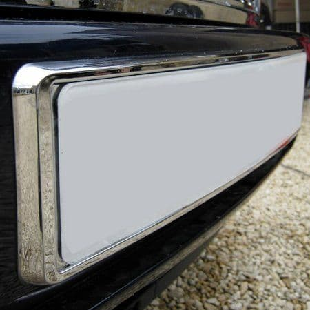 Chrome Front Number Plate Plinth - Range Rover L322