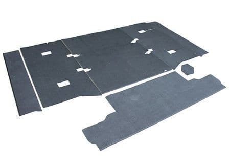 Defender 90 Rear Body Premium Carpet Set (Cut Away) - EXT021-21