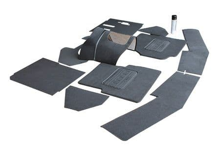 Defender Black Front Carpet Set - Includes Spray Glue
