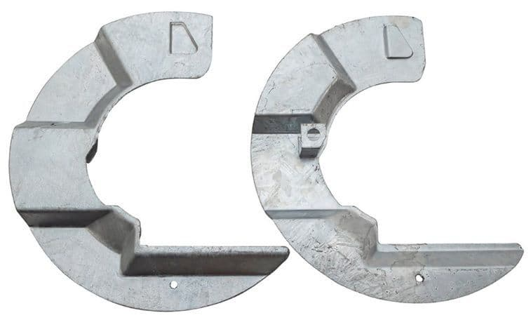Defender / Discovery 1 Galvanised Brake Mud Shields - pair