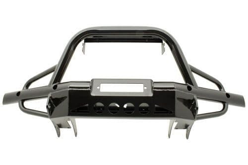 Defender tubular winch bumper with A bar, with air con - TF001AC