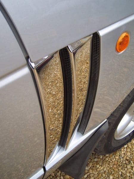 Double Fin Vent Covers - CHROME (4pcs) Range Rover L322