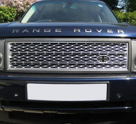 Grille Kit - SILVER & GREY (Square type) - Range Rover L322