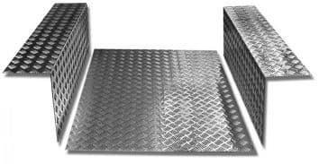 Land Rover Series Chequer Plate - Floor Load Area Set SWB LR98