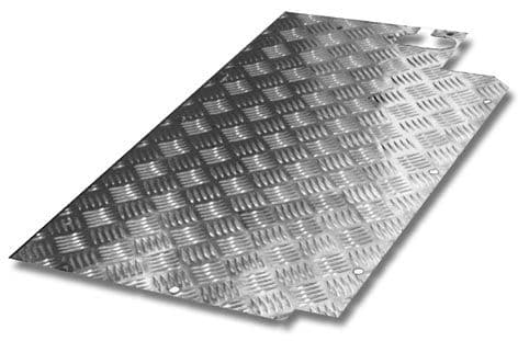Land Rover Series Chequer Plate - Floor Plate - OFFSIDE LR240CO/S