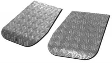 Land Rover Series Chequer Plate - Wing Top Protectors - SHORT - LR137 PAIR