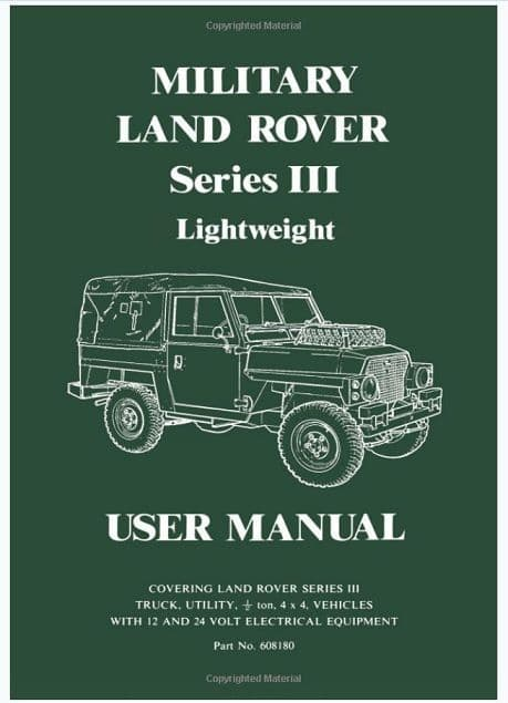 Military Series III Lightweight - User Manual