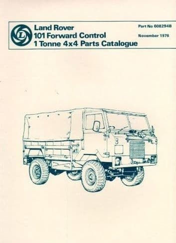 Parts Catalogue Military 101 - 1 Tonne Forward Control Code