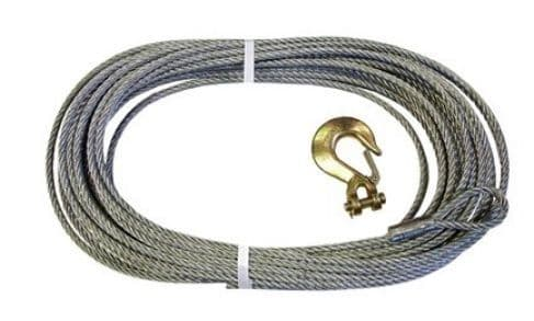 Replacement Galvanised Winch Cable with Hook