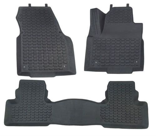 Rubber Fitted Over Mats - RHD - Front & Rear Set