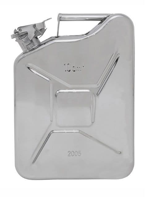 Stainless Steel 10 litre Jerry Can