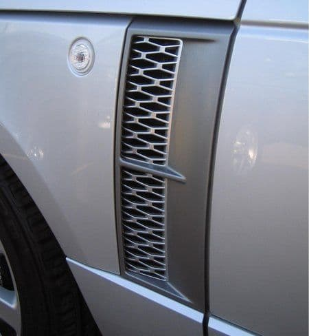Supercharged Side Vents PAIR 05-09 Style ( Genuine ) Range Rover L322